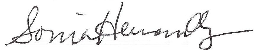 Sonia Hernandez Signature